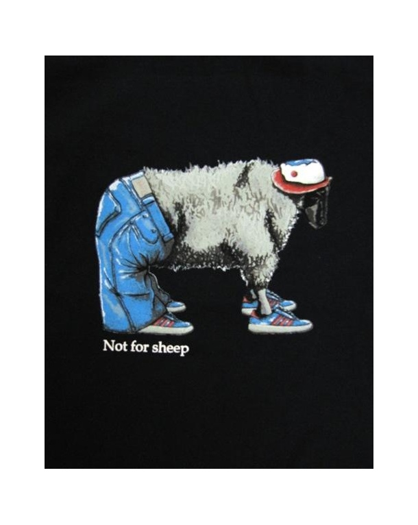 80s Casuals Stepping Stone Not For Sheep T-shirt Navy