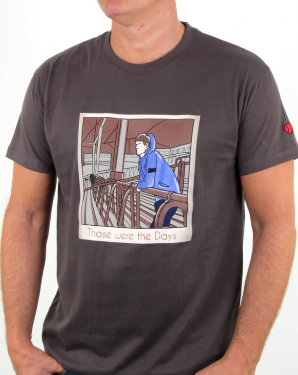 f6f72521 80s Casuals Those Were The Days T Shirt Charcoal