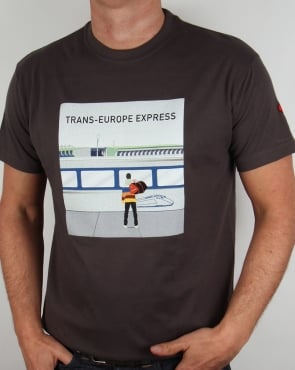 80s Casuals Trans Europe Express T-shirt Dark Grey