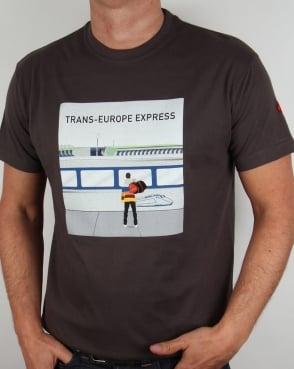 80s Casuals Trans Europe Express T-shirt Dark Grey