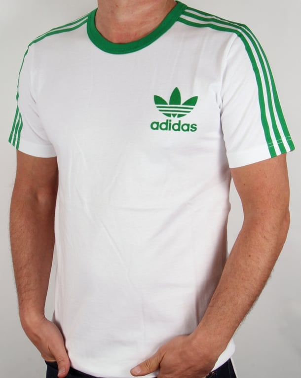 Adidas 3 Stripes T-shirt White/Green