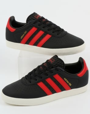 Adidas 350 Trainers Black/scarlet Red