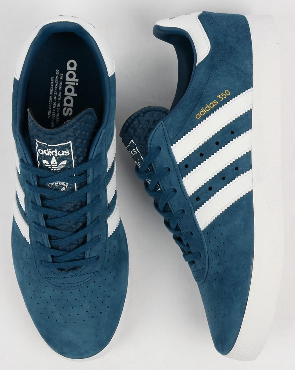 c3713a85c0a Adidas 350 Trainers Blue Night White