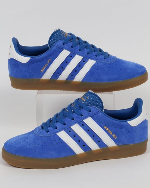 Adidas 350 Trainers Blue/White/Gum