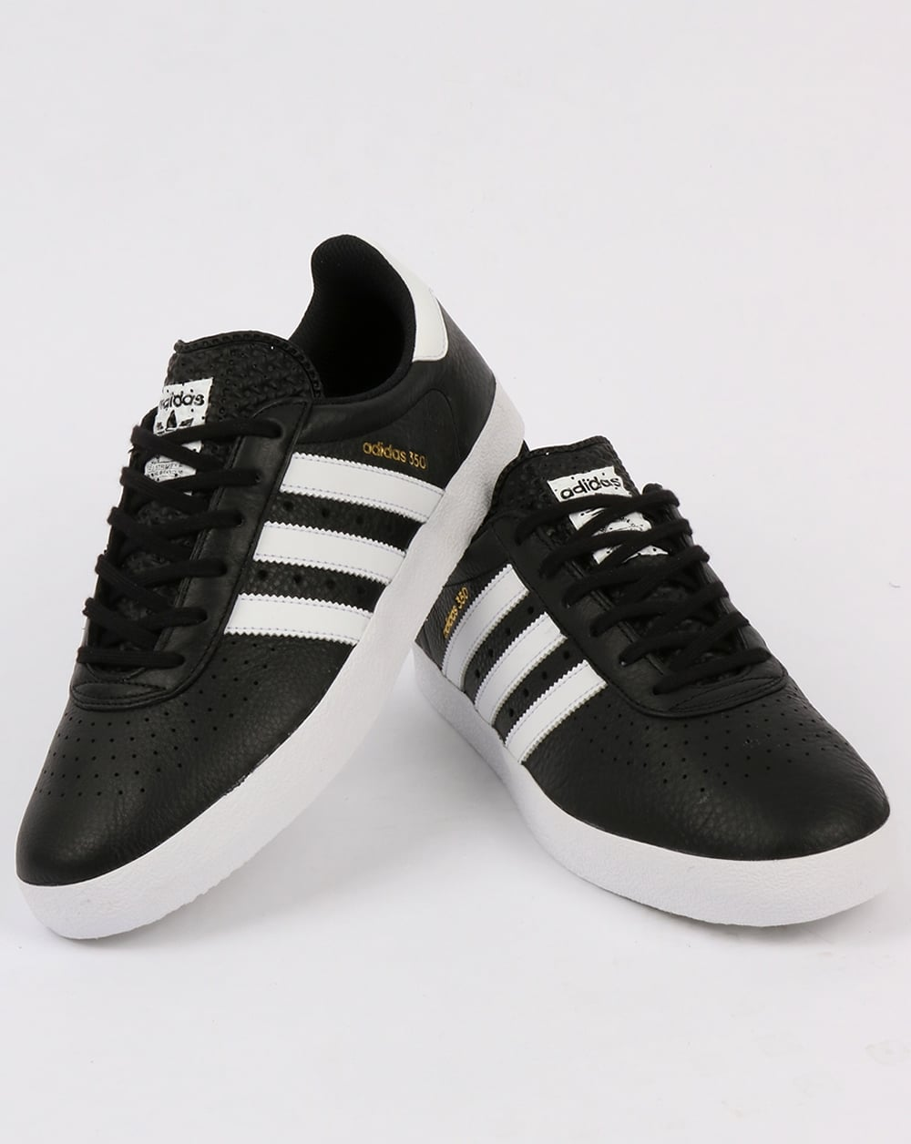 adidas black and white trainers for men