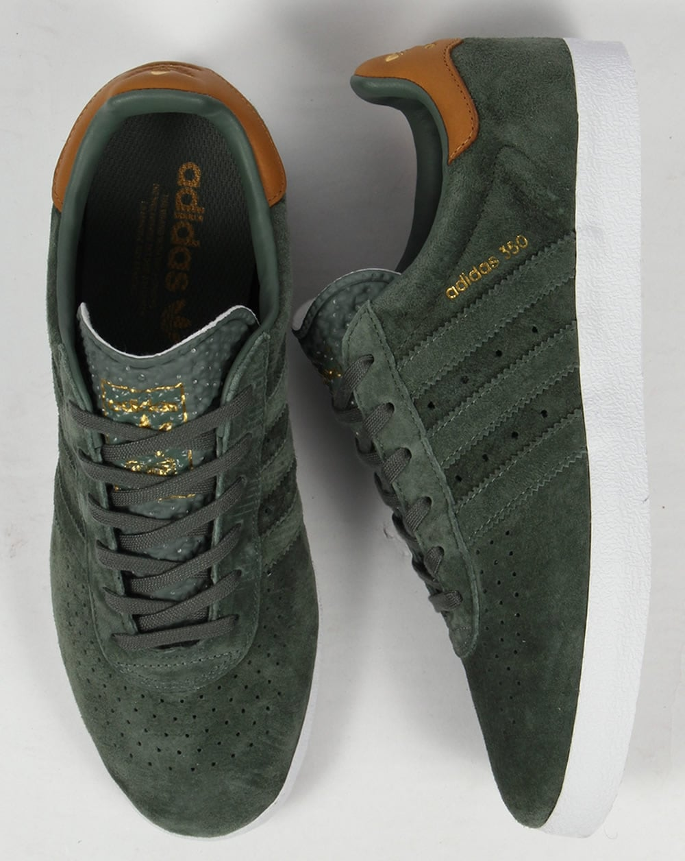 the latest 1fcd3 27e02 Adidas 350 Trainers DK Olive