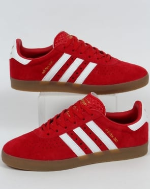 Adidas 350 Trainers Red/White/Gum