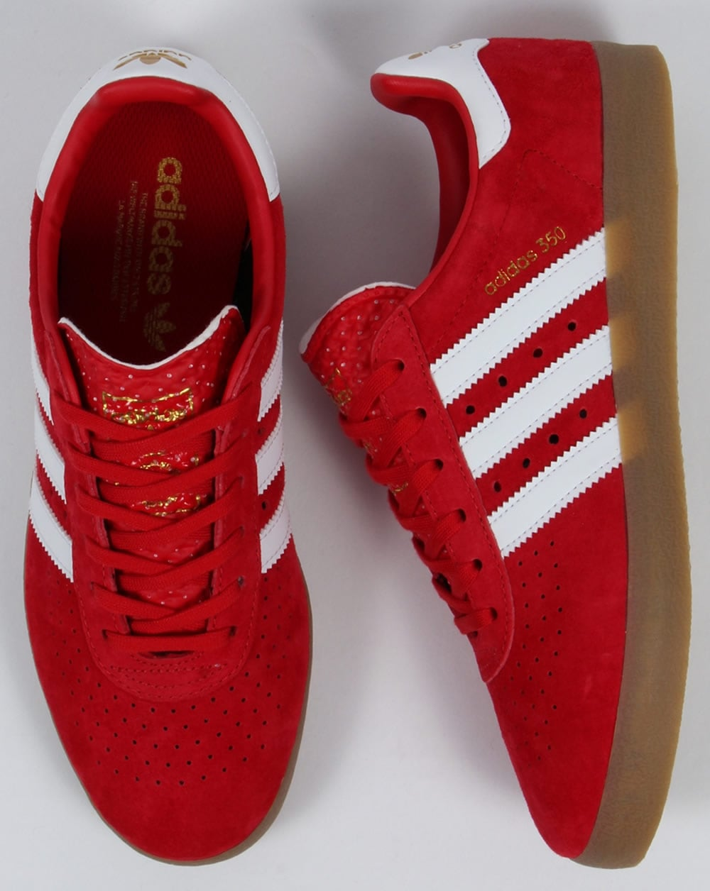 adidas red shoes. adidas 350 trainers red/white/gum red shoes