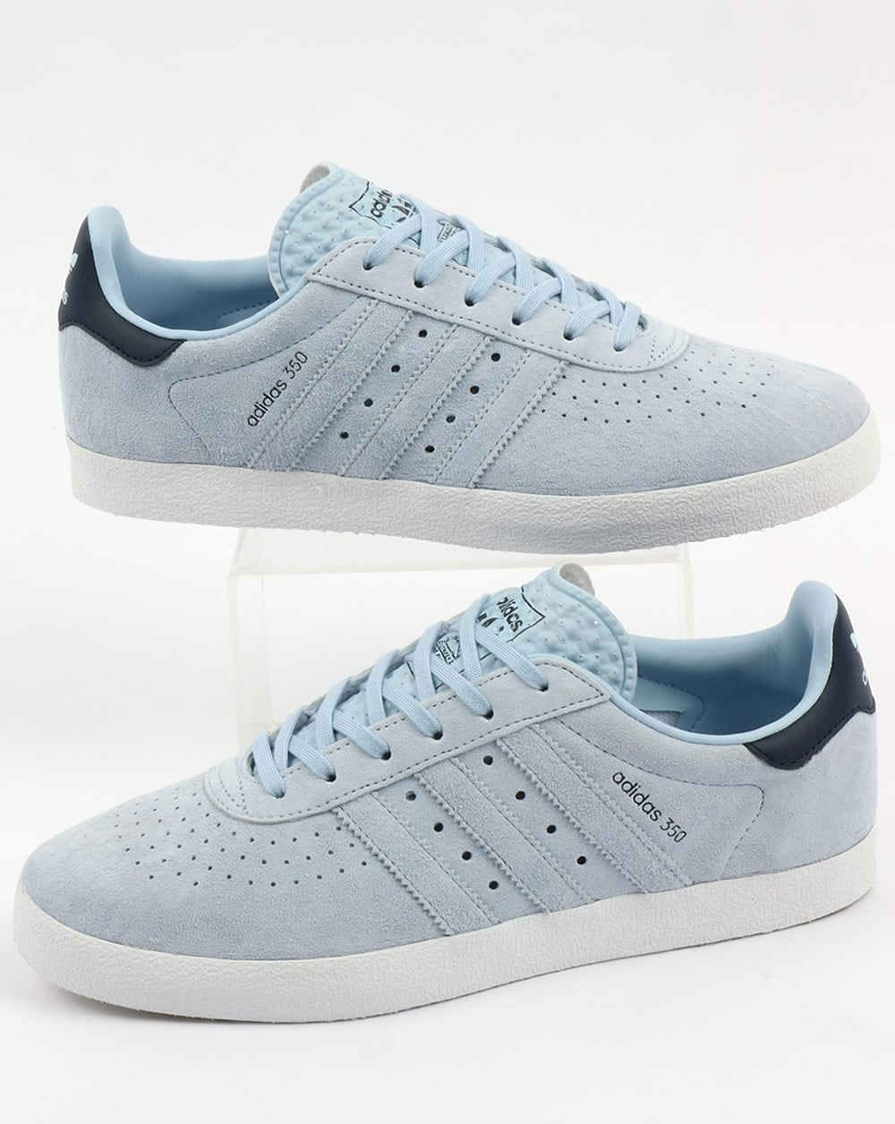 baby blue adidas gazelle trainers