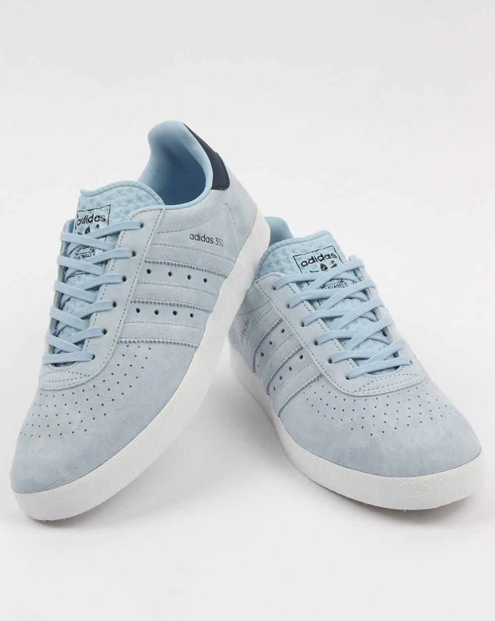 Adidas 350 Trainers Sky Blue Shoes Originals Mens Easy