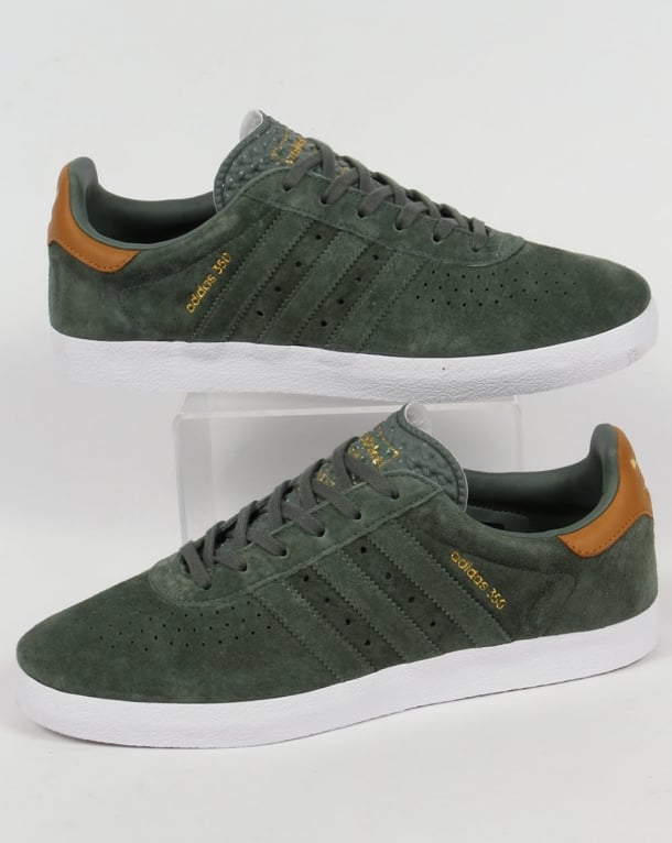 Adidas 350 Trainers Trace Green