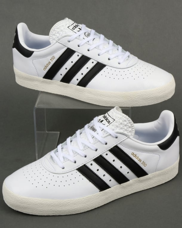 Adidas 350 Trainers White/Black/Off White