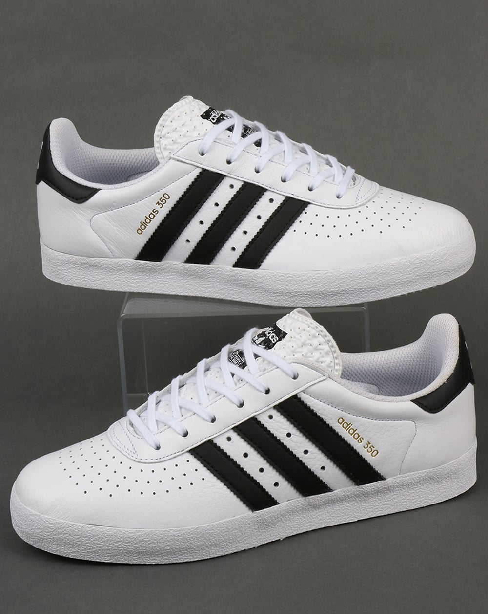 Adidas 350 Trainers White/Black,leather