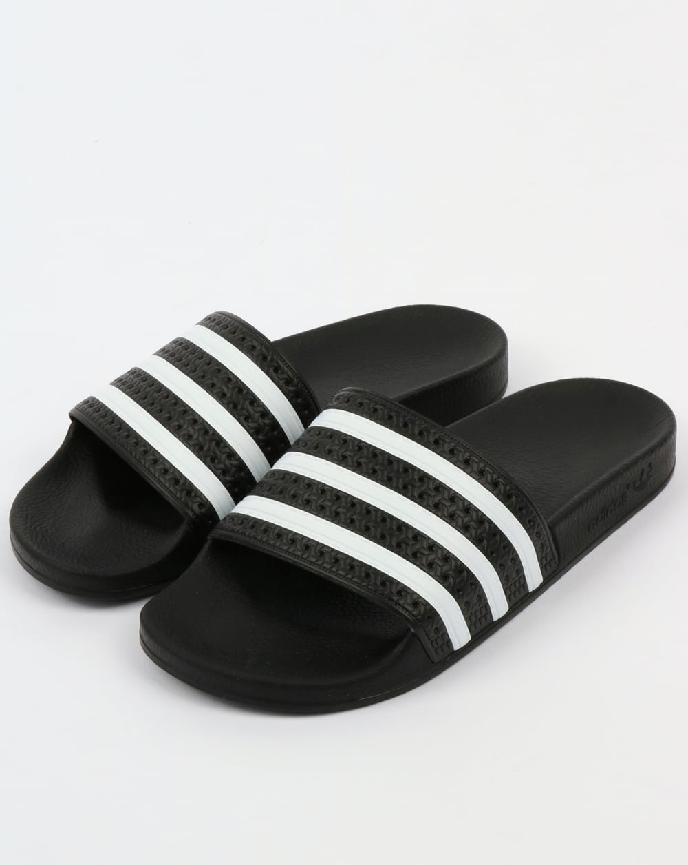 Adidas Adilette Sliders Black White Sandals Pool Mens