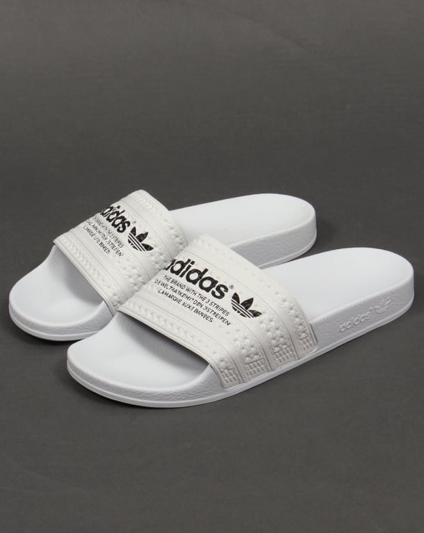 f1f6278a659 Adidas Adilette Sliders White Black
