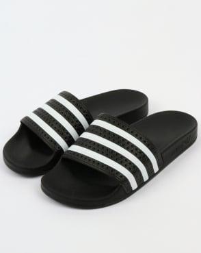 adidas Trainers Adidas Adilette Slides Black/White