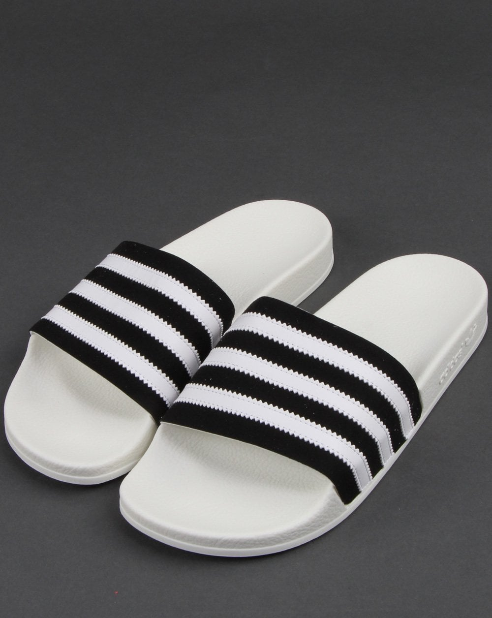 Adidas Adilette Slides Black White 80s Casual Classics