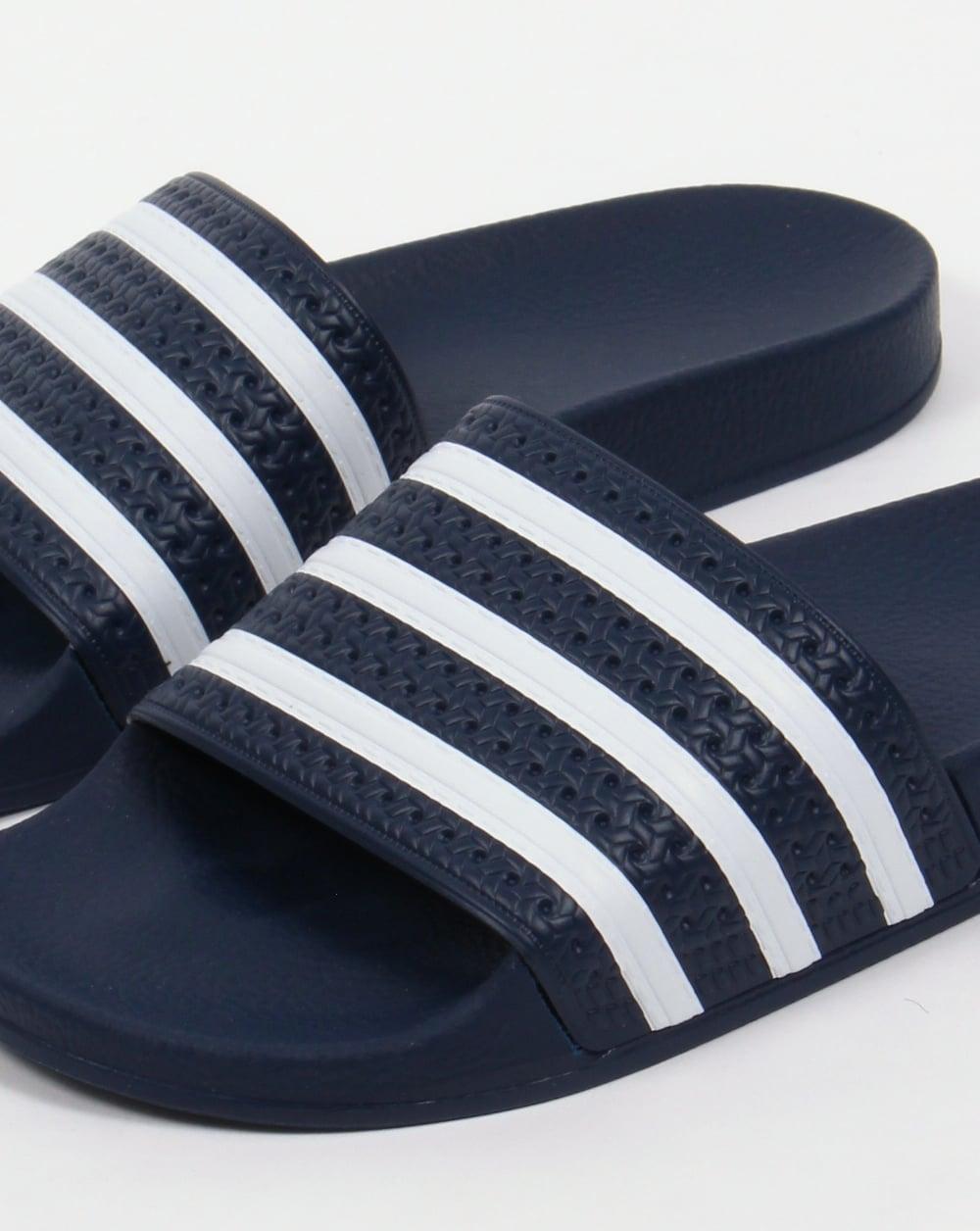 Adidas Adilette Slides Navy/White