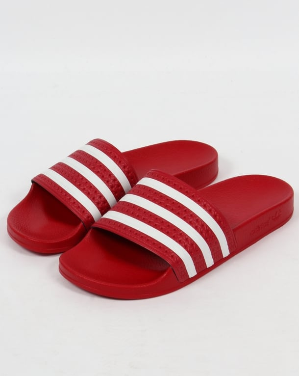 Adidas Adilette Slides Red/White
