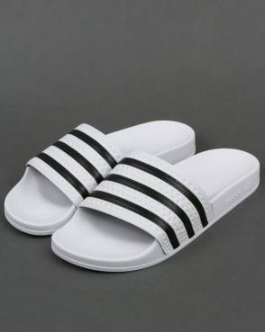 adidas Trainers Adidas Adilette Slides White/Black