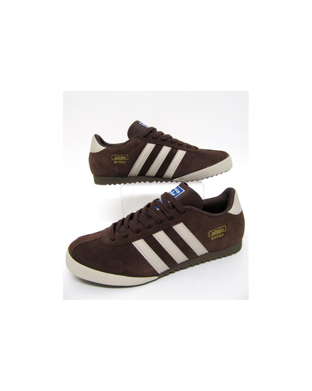 ffdfc08a8e581 Adidas Bamba Trainers Brown Cream Gold