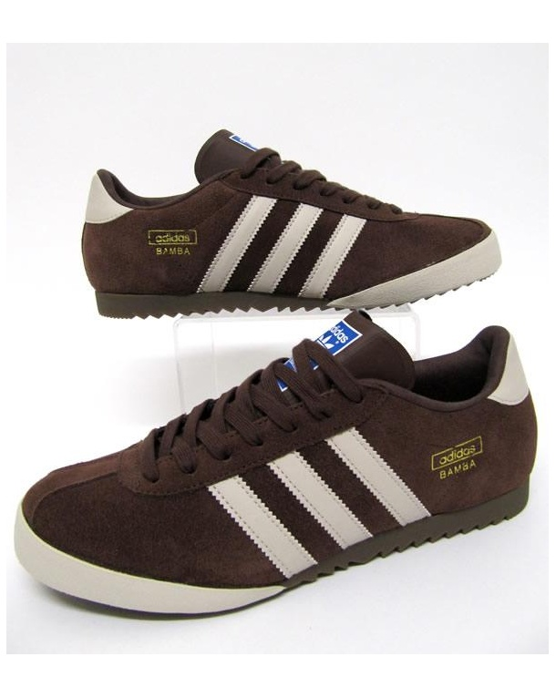 Adidas Bamba Trainers Brown/Cream/Gold