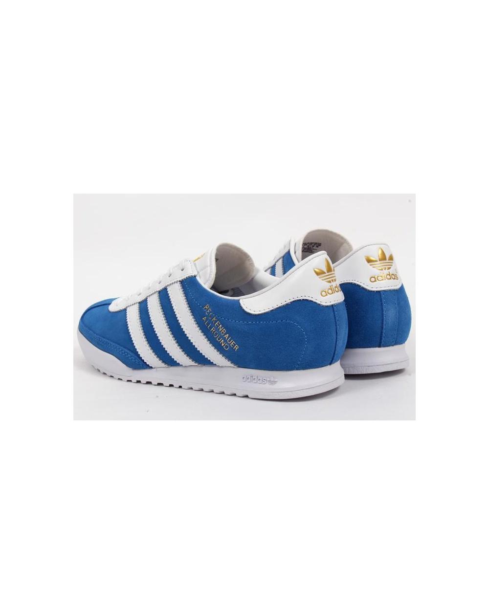 ... Adidas Beckenbauer Trainers Bluebird Bluewhite ... 340c5b396