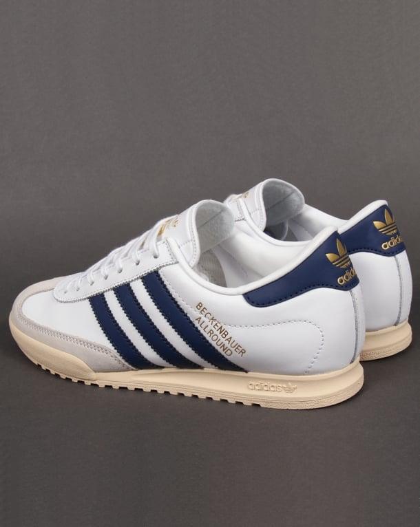 Adidas Beckenbauer Trainers White navy gold 2dc81212c