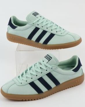 adidas light green bermuda trainers