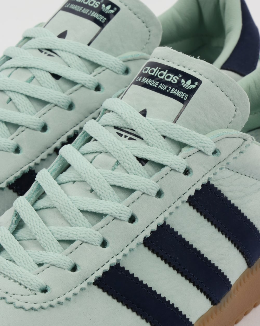 official photos 8dc3d 4f0d5 Adidas Bermuda Trainers Ash Green Navy