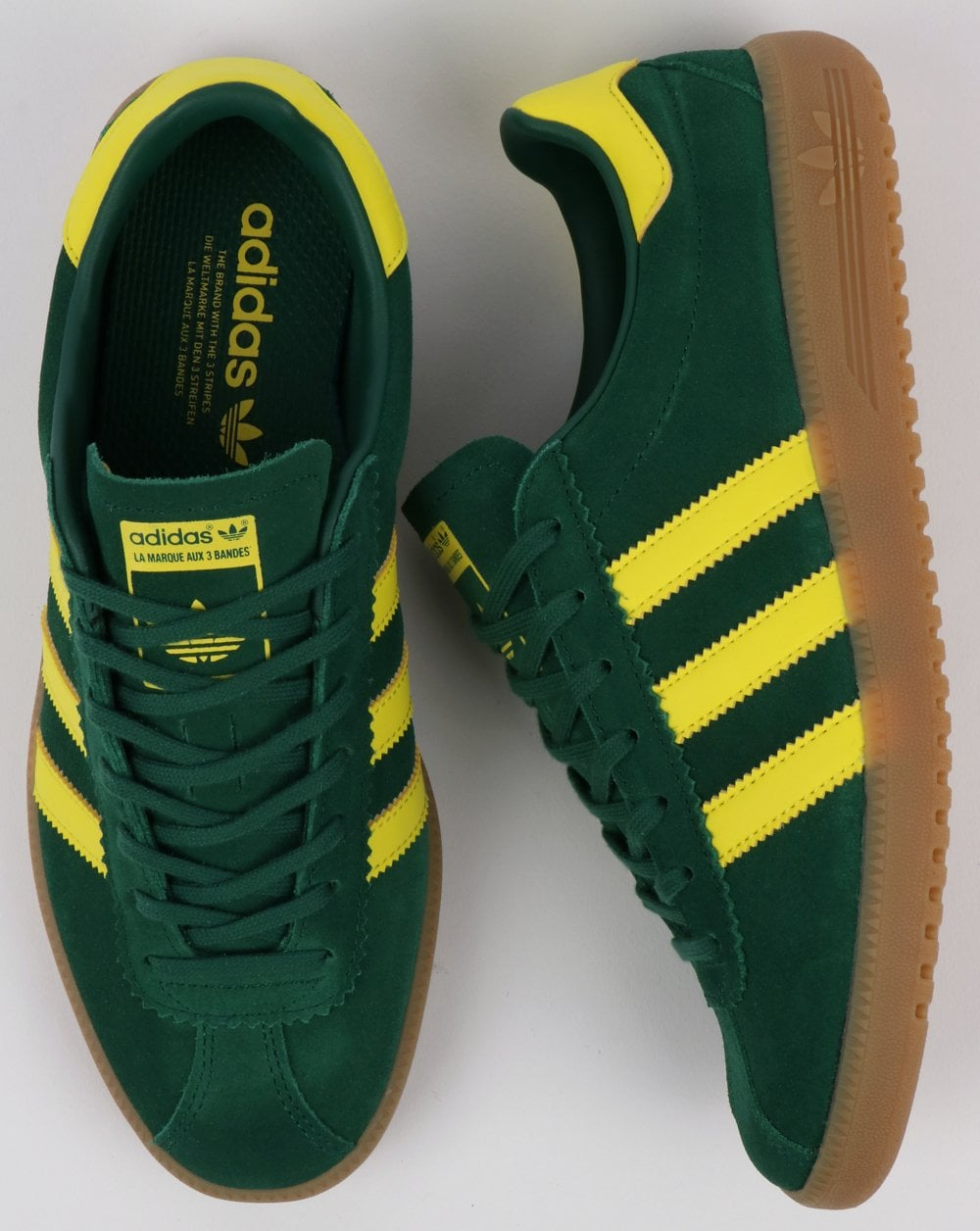 a92dbf43c24 Adidas Bermuda Trainers Green Yellow