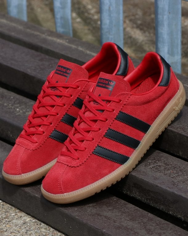 a209a6a84d6 Adidas Bermuda Trainers Red Black Gum
