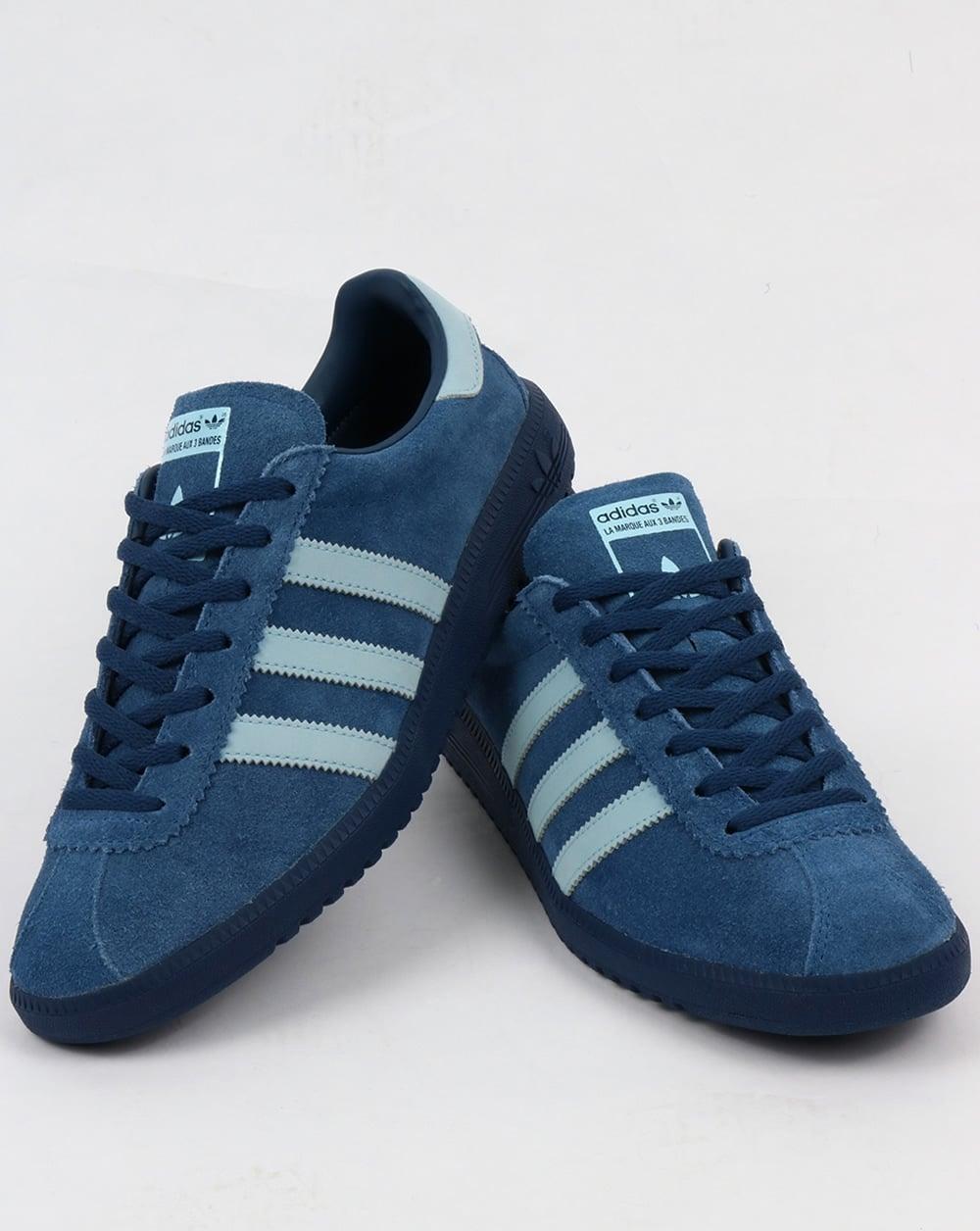 Adidas Bermuda formadores misterio azul / azul claro, hombre , retro, archivo