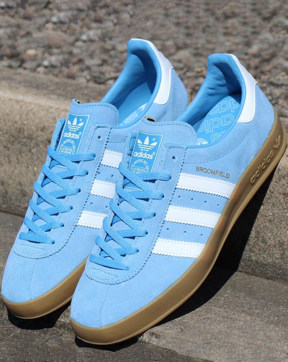 Adidas Broomfield Trainers Sky Blue/White