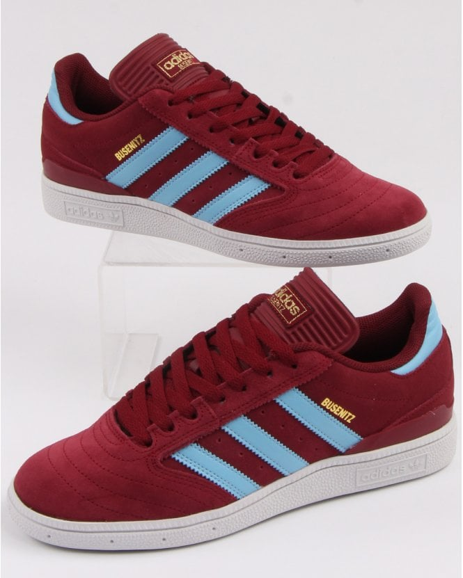 Adidas Busenitz Trainers Claret Sky Blue 80s Casual Classics