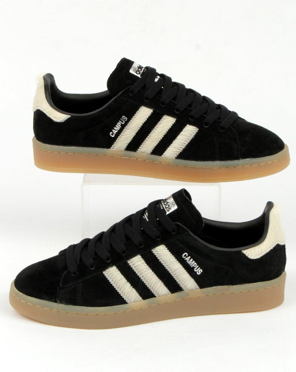 super populaire c7ba4 97e18 Adidas Campus Trainers Black/white/gum
