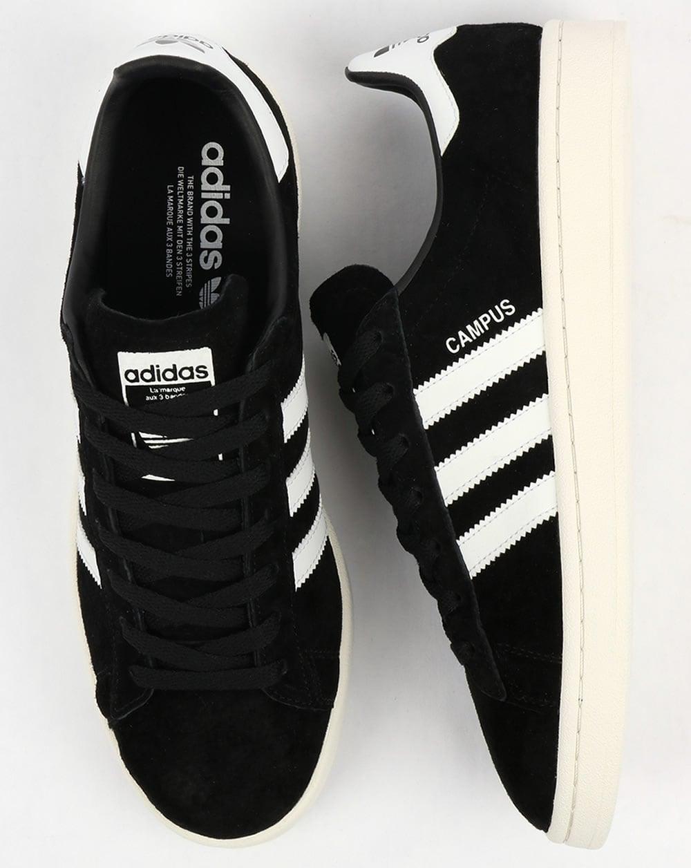 pecador abajo Sofisticado  Adidas Campus Trainers Black/White,originals,suede,shoes,mens