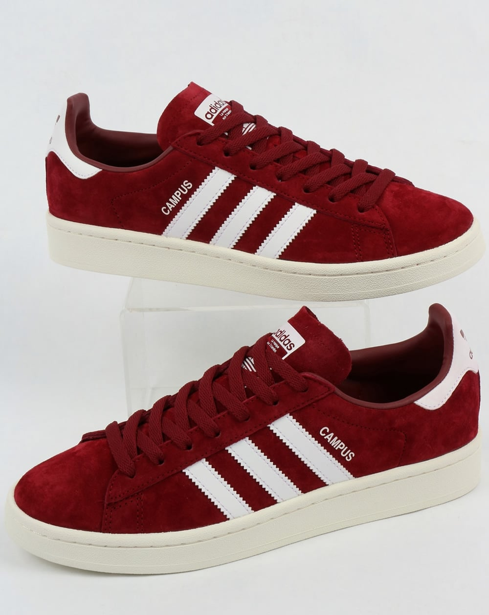 new product 4e4c6 549f9 adidas Trainers Adidas Campus Trainers Burgundy White