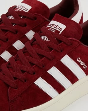 adidas Trainers Adidas Campus Trainers Burgundy/White