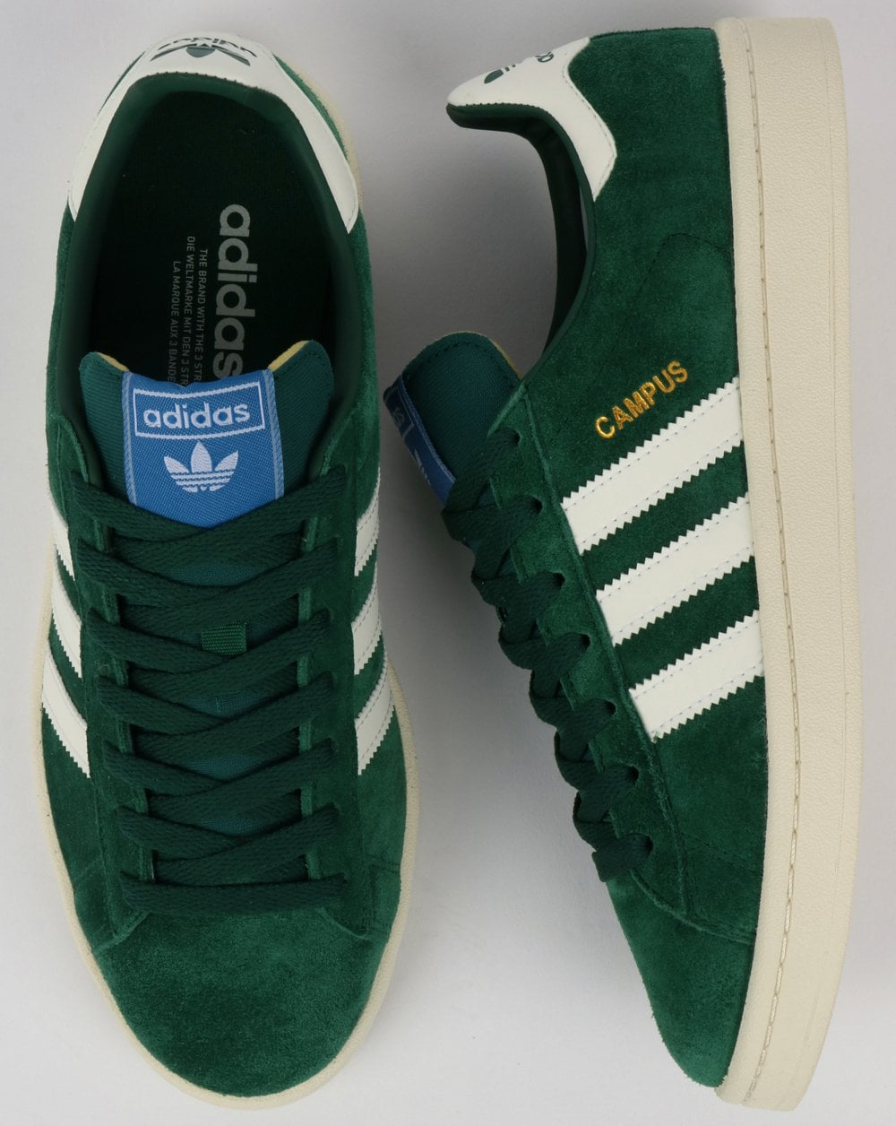 Adidas Campus Trainers Green Shoes Suede Originals