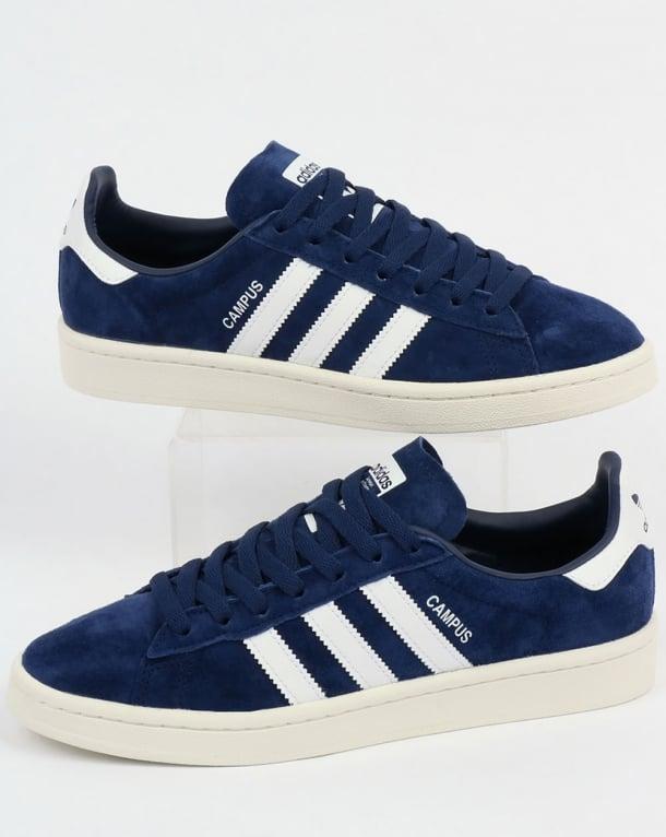 Adidas Campus Trainers Dark Blue/White