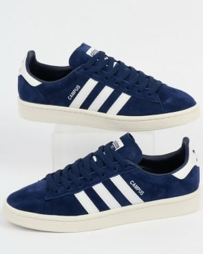 Adidas Campus Trainers Dark Blue/White