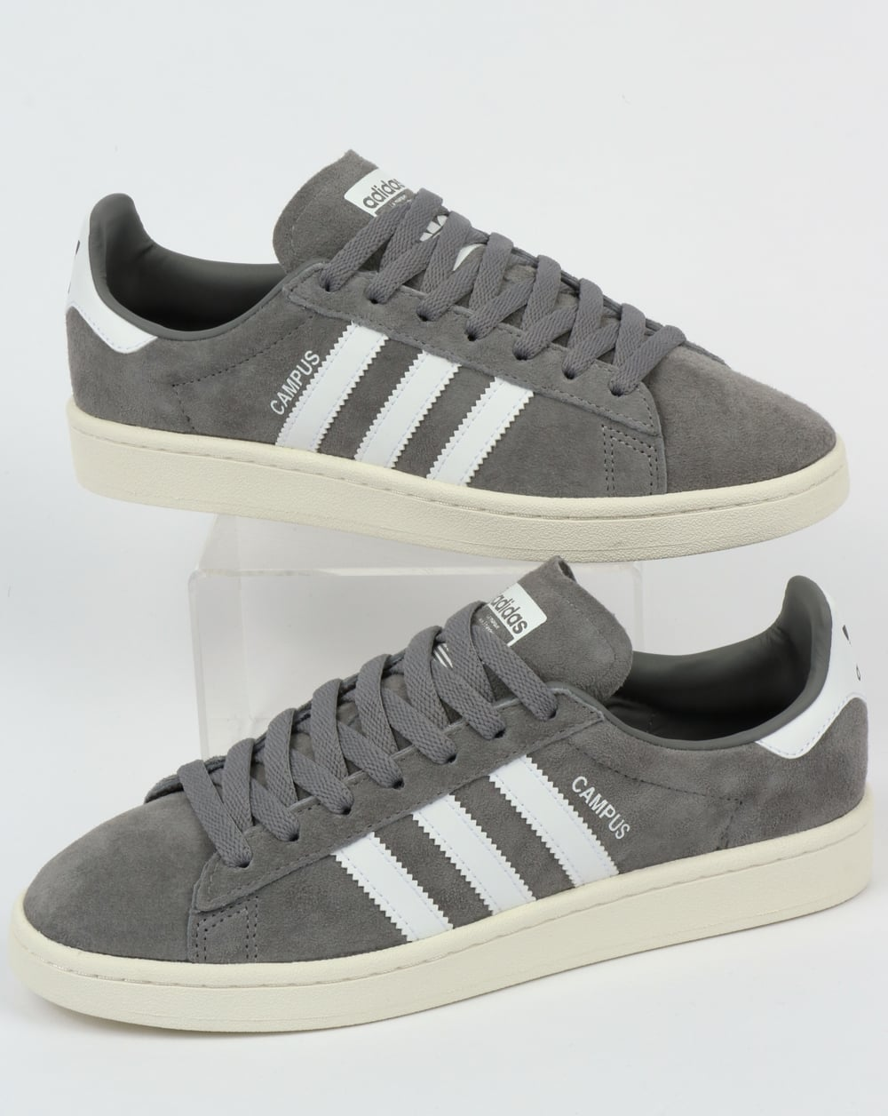 b40ecfeeb19c adidas Trainers Adidas Campus Trainers Grey White