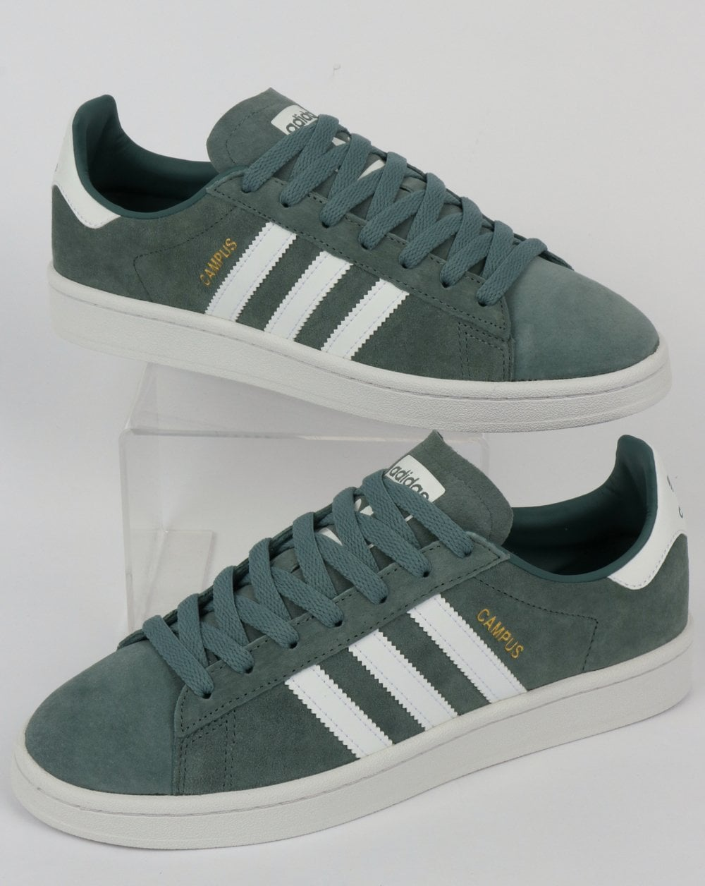 Adidas Campus Trainers Raw Green/White