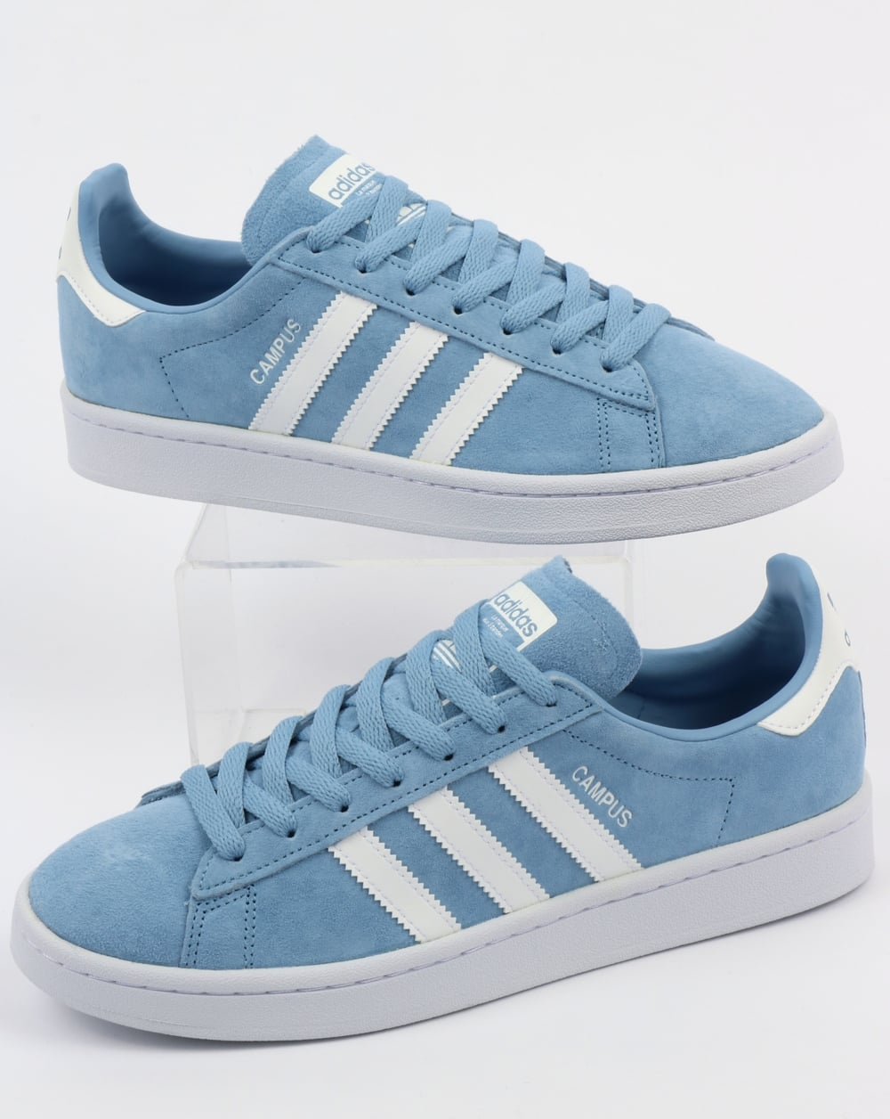 sports shoes 72620 5aa65 adidas Trainers Adidas Campus Trainers Sky Blue White