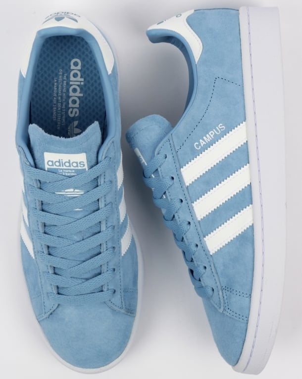Adidas Campus Trainers Sky Blue/White