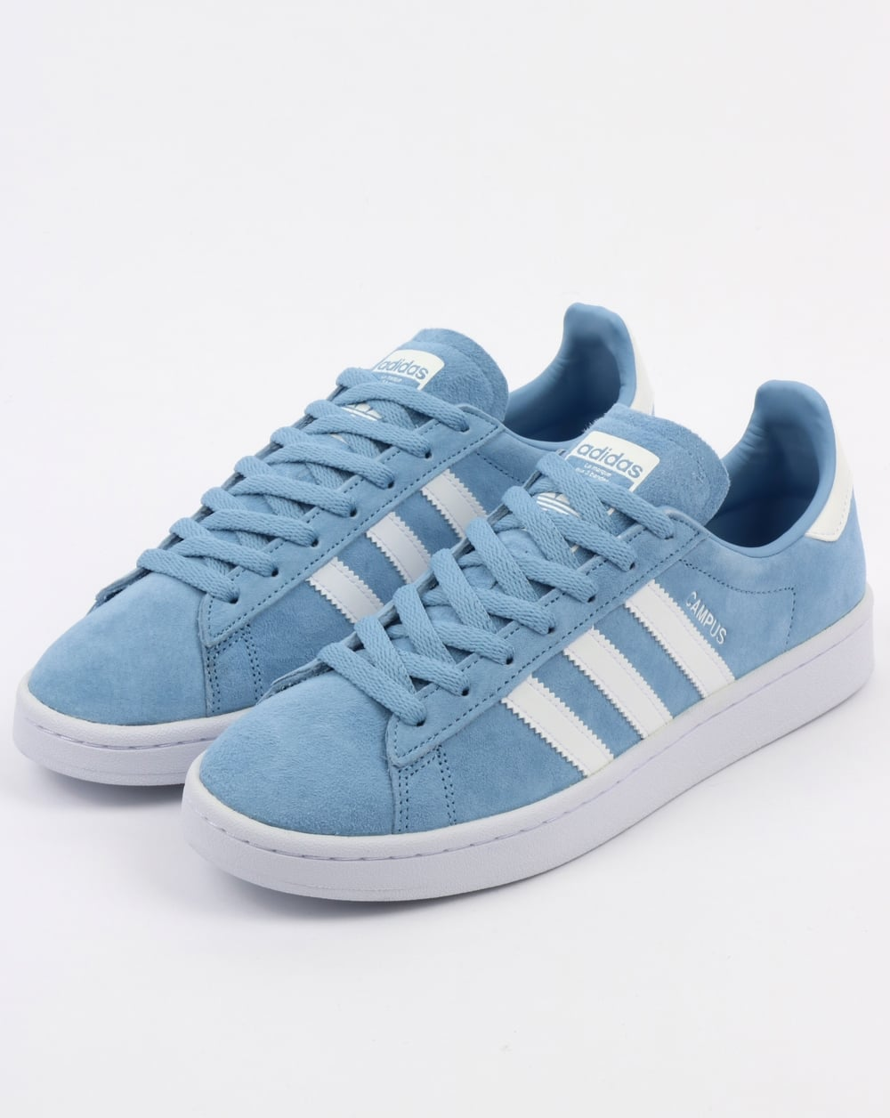 watch 713dc fc617 Adidas Campus Trainers Sky Blue White