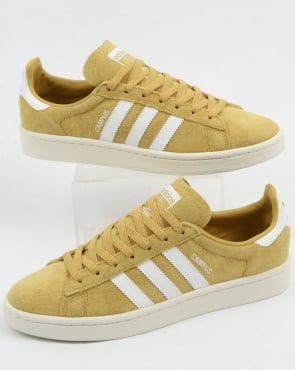 adidas Trainers Adidas Campus Trainers Yellow/White
