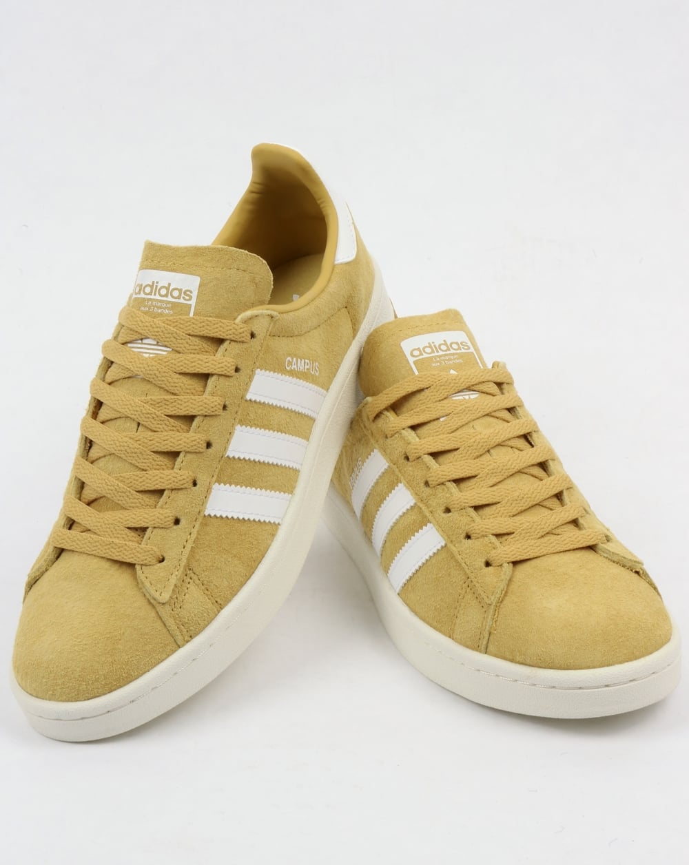 Adidas Campus Trainers Yellow White b98cbe2d4a22
