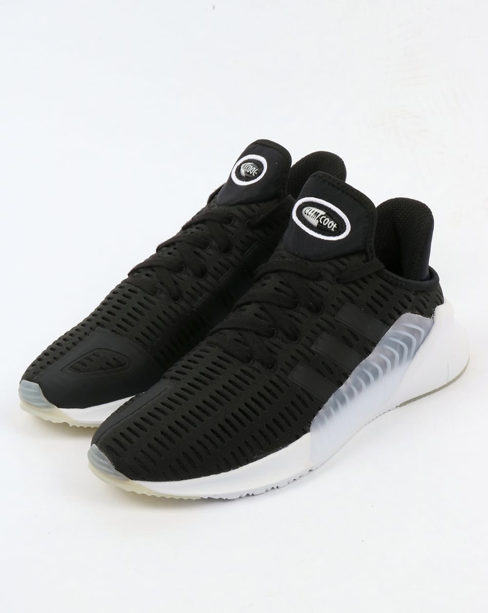 white and black adidas climacool trainers